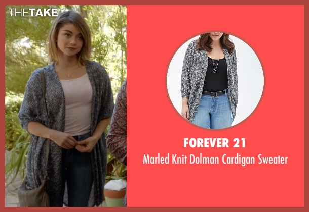 Forever 21 gray sweater from Modern Family seen with Haley Dunphy (Sarah Hyland)