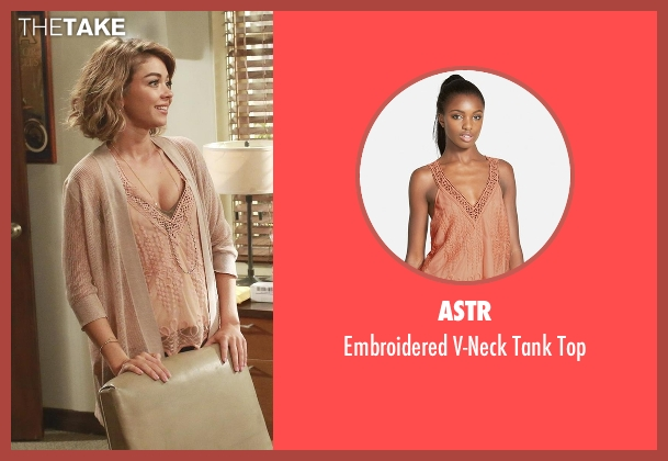 ASTR pink top from Modern Family seen with Haley Dunphy (Sarah Hyland)