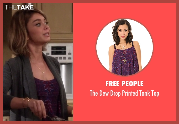 Free People purple top from Modern Family seen with Haley Dunphy (Sarah Hyland)