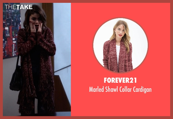 Forever21 red cardigan from Modern Family seen with Haley Dunphy (Sarah Hyland)