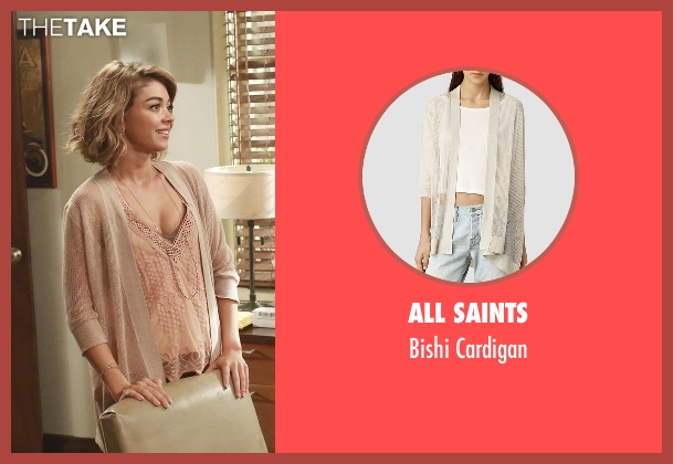 All Saints white cardigan from Modern Family seen with Haley Dunphy (Sarah Hyland)