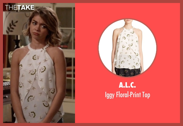 A.L.C. white top from Modern Family seen with Haley Dunphy (Sarah Hyland)
