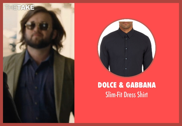 Dolce & Gabbana blue shirt from Entourage seen with Haley Joel Osment (Travis)