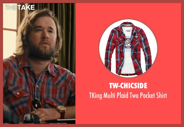 TW-Chicside red shirt from Entourage seen with Haley Joel Osment (Travis)