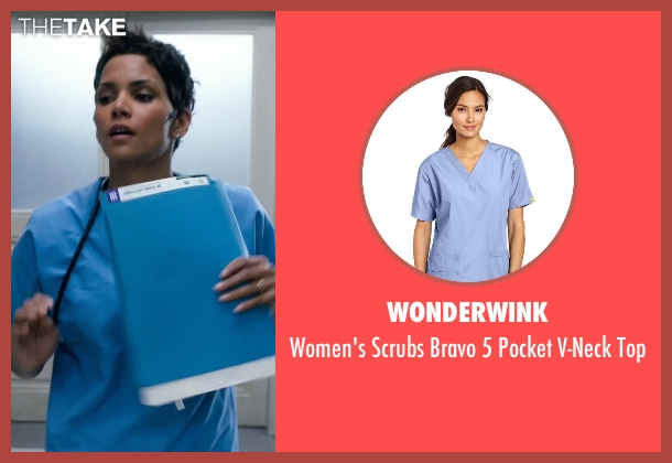 WonderWink blue top from New Year's Eve seen with Halle Berry (Nurse Aimee)