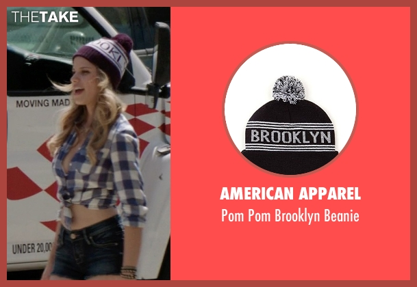 American Apparel blue beanie from Neighbors seen with Halston Sage (Brooke)