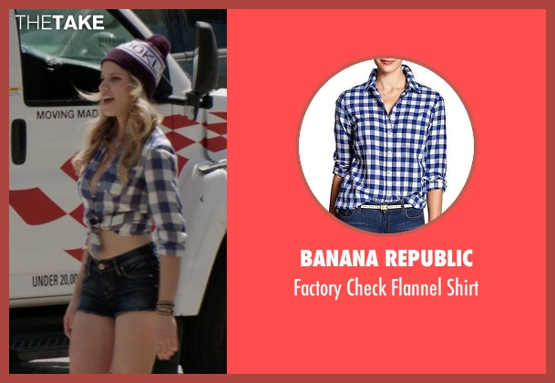 Banana Republic blue shirt from Neighbors seen with Halston Sage (Brooke)