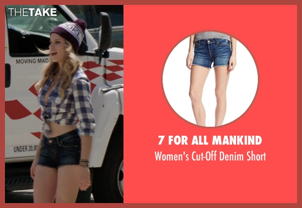 7 For All Mankind blue short from Neighbors seen with Halston Sage (Brooke)