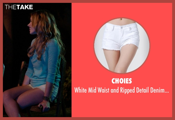 Choies white short from Neighbors seen with Halston Sage (Brooke)