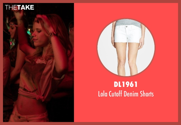 DL1961 white shorts from Neighbors seen with Halston Sage (Brooke)
