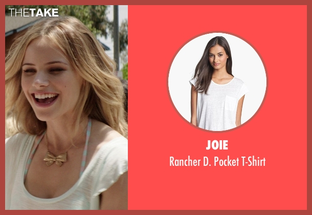 Joie white t-shirt from Neighbors seen with Halston Sage (Brooke)
