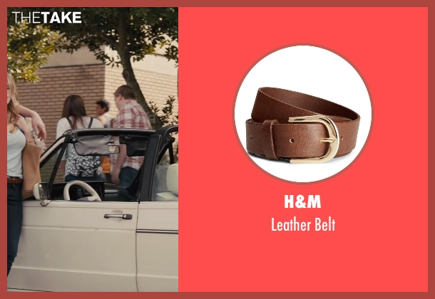 H&M brown belt from Paper Towns seen with Halston Sage (Lacey Pemberton)