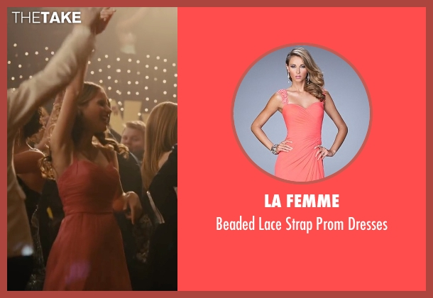 La Femme pink dresses from Paper Towns seen with Halston Sage (Lacey Pemberton)