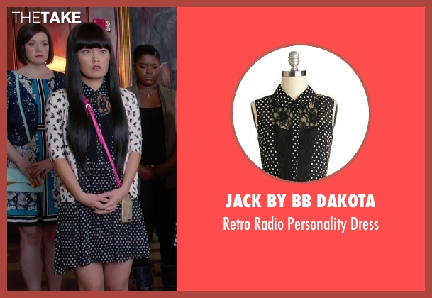 Jack by BB Dakota black dress from Pitch Perfect 2 seen with Hana Mae Lee (Lilly Okanakamura)