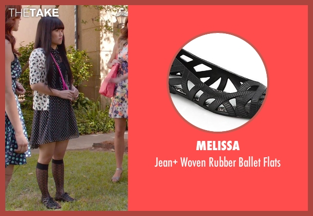 Melissa black flats from Pitch Perfect 2 seen with Hana Mae Lee (Lilly Okanakamura)