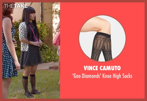 Vince Camuto black socks from Pitch Perfect 2 seen with Hana Mae Lee (Lilly Okanakamura)