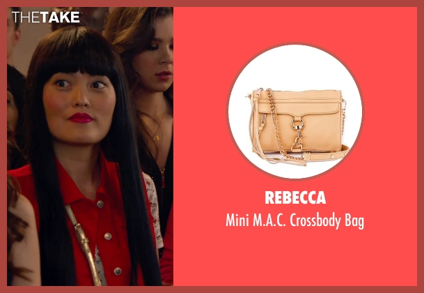 Rebecca gold bag from Pitch Perfect 2 seen with Hana Mae Lee (Lilly Okanakamura)