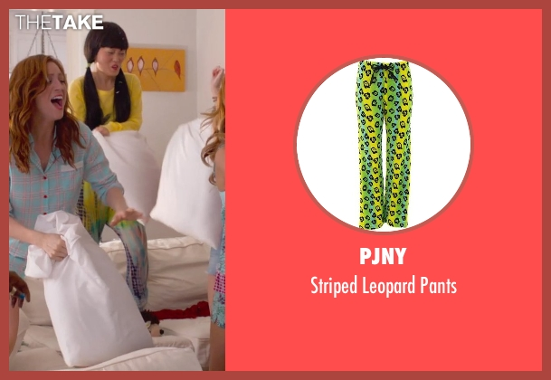 PJNY green pants from Pitch Perfect 2 seen with Hana Mae Lee (Lilly Okanakamura)
