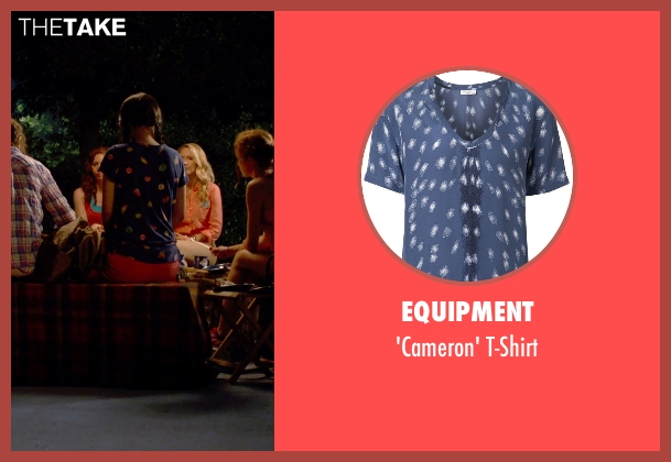 Equipment purple t-shirt from Pitch Perfect 2 seen with Hana Mae Lee (Lilly Okanakamura)