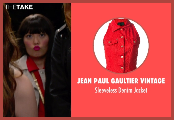 Jean Paul Gaultier Vintage red jacket from Pitch Perfect 2 seen with Hana Mae Lee (Lilly Okanakamura)