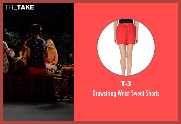 Y-3 red shorts from Pitch Perfect 2 seen with Hana Mae Lee (Lilly Okanakamura)