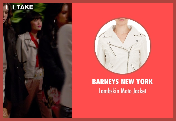 Barneys New York white jacket from Pitch Perfect 2 seen with Hana Mae Lee (Lilly Okanakamura)