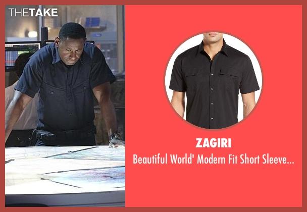 Zagiri black shirt from Supergirl seen with Hank Henshaw (David Harewood)