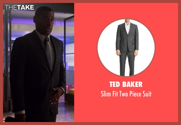 Ted Baker gray suit from Supergirl seen with Hank Henshaw (David Harewood)