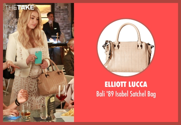 Elliott Lucca  beige bag from Pretty Little Liars seen with Hanna Marin (Ashley Benson)