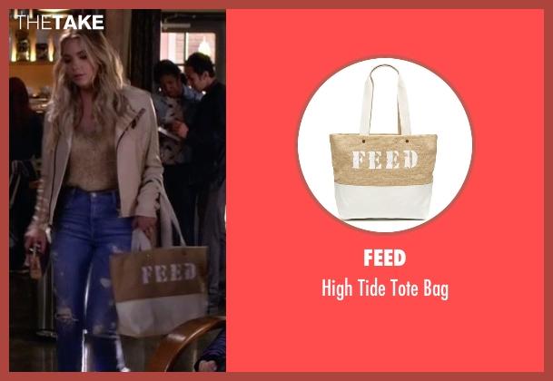 Feed beige bag from Pretty Little Liars seen with Hanna Marin (Ashley Benson)