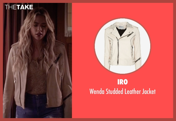 IRO beige jacket from Pretty Little Liars seen with Hanna Marin (Ashley Benson)
