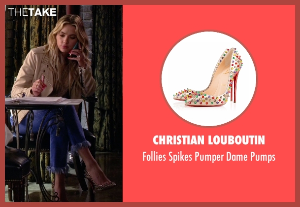 Christian Louboutin beige pumps from Pretty Little Liars seen with Hanna Marin (Ashley Benson)