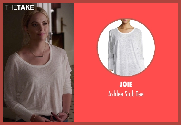 Joie  beige tee from Pretty Little Liars seen with Hanna Marin (Ashley Benson)