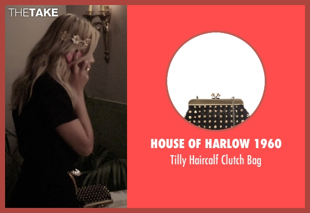 House of Harlow 1960 black bag from Pretty Little Liars seen with Hanna Marin (Ashley Benson)