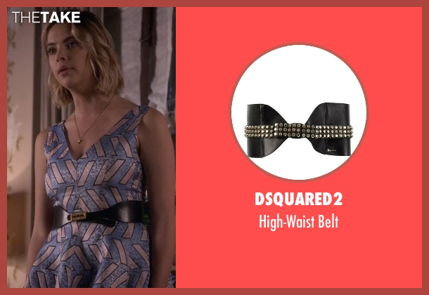 Dsquared2 black belt from Pretty Little Liars seen with Hanna Marin (Ashley Benson)