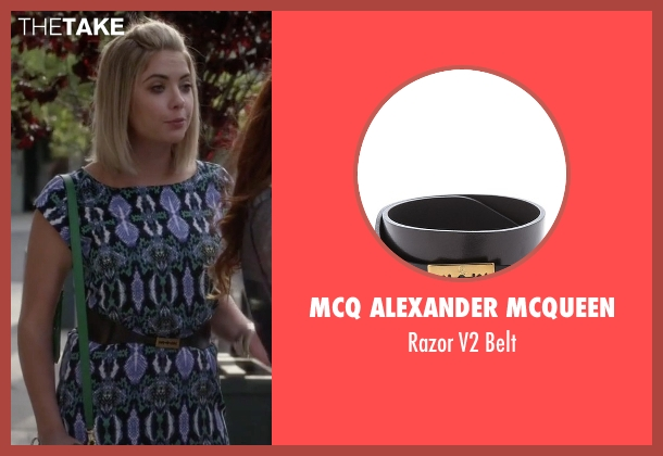 McQ Alexander McQueen black belt from Pretty Little Liars seen with Hanna Marin (Ashley Benson)