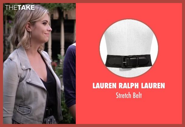 Lauren Ralph Lauren black belt from Pretty Little Liars seen with Hanna Marin (Ashley Benson)