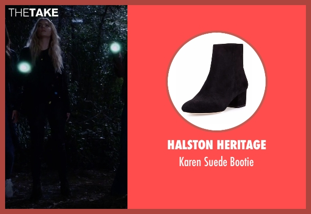 Halston Heritage black bootie from Pretty Little Liars seen with Hanna Marin (Ashley Benson)