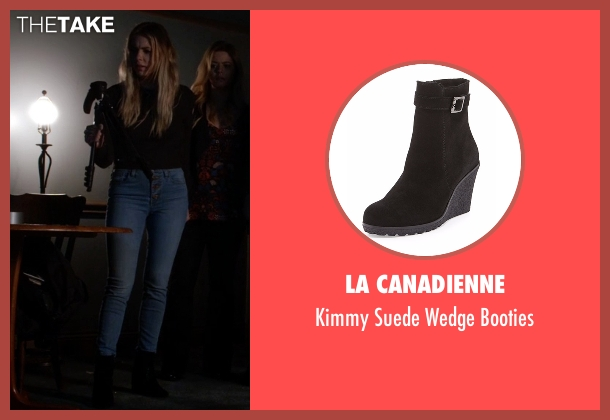La Canadienne black booties from Pretty Little Liars seen with Hanna Marin (Ashley Benson)