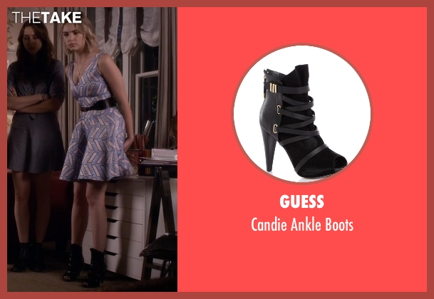 Guess black boots from Pretty Little Liars seen with Hanna Marin (Ashley Benson)