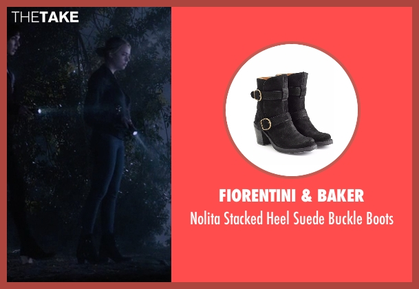 Fiorentini & Baker   black boots from Pretty Little Liars seen with Hanna Marin (Ashley Benson)