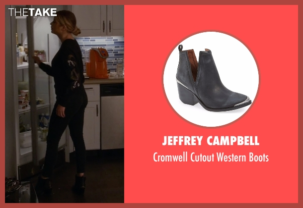 Jeffrey Campbell black boots from Pretty Little Liars seen with Hanna Marin (Ashley Benson)