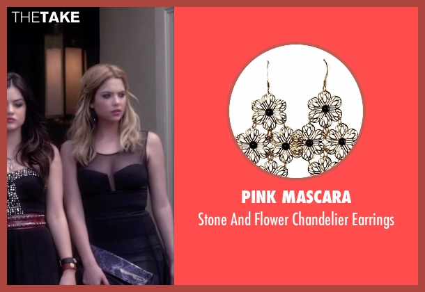 Pink Mascara black earrings from Pretty Little Liars seen with Hanna Marin (Ashley Benson)