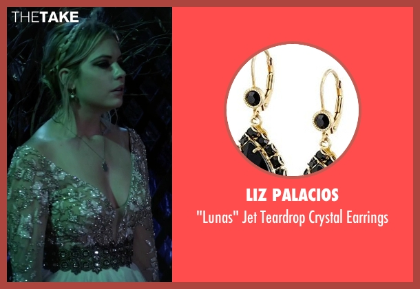 Liz Palacios black earrings from Pretty Little Liars seen with Hanna Marin (Ashley Benson)