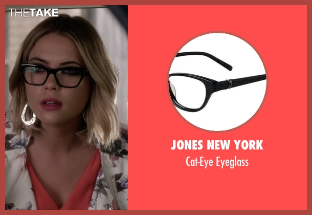 Jones New York black eyeglass from Pretty Little Liars seen with Hanna Marin (Ashley Benson)