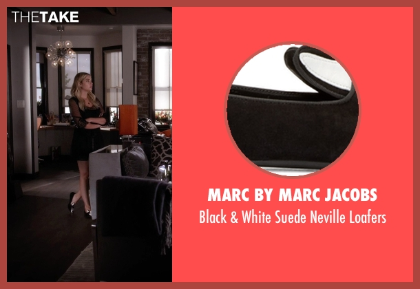Marc by Marc Jacobs black loafers from Pretty Little Liars seen with Hanna Marin (Ashley Benson)