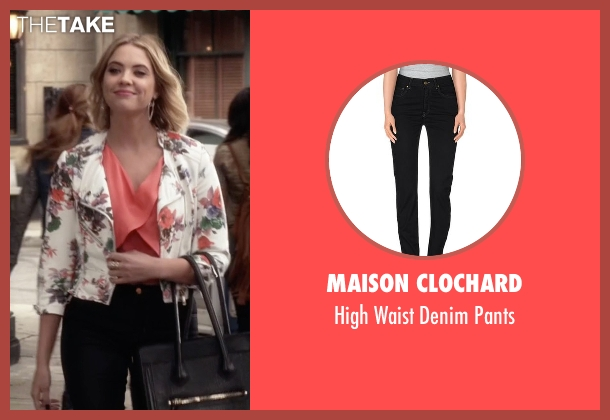 Maison Clochard black pants from Pretty Little Liars seen with Hanna Marin (Ashley Benson)