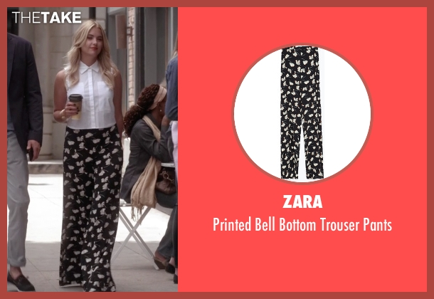 Zara black pants from Pretty Little Liars seen with Hanna Marin (Ashley Benson)