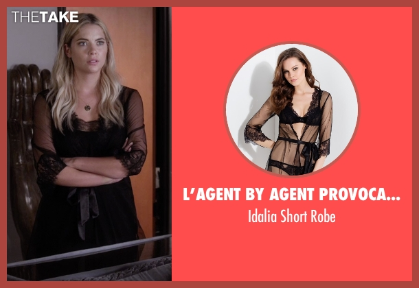 L'Agent By Agent Provocateur black robe from Pretty Little Liars seen with Hanna Marin (Ashley Benson)