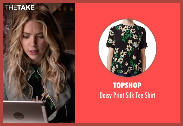 Topshop black shirt from Pretty Little Liars seen with Hanna Marin (Ashley Benson)